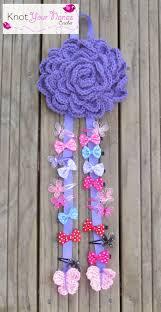 crochet hair bows knot your nana s crochet large flower hair bow holder