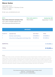 Professional Receipt Template Free Psd Invoice Template On Behance