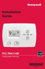 honeywell pro th4110d manuals