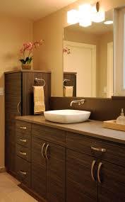 11 best bathroom remodel images on pinterest bathroom ideas beautiful dark wood cabinets with white vessel sink in remodeled bathroom