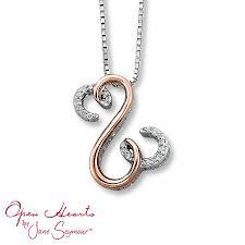 kay jewelers open heart kay open hearts by jane seymour diamond necklace