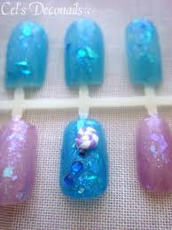 iridescent candy deco nails kawaii japanese nail art set