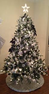 black christmas tree white silver and black christmas tree blue spruce decorated white