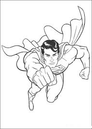 superman flying space coloring free printable