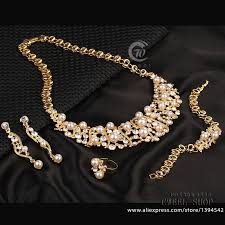 fashion necklace sets images 18k gold plated colorful simulated pearl austrian crystal jewelry jpg