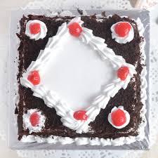 yummy square shaped black forest cake aapkijugaad