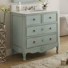 bathroom blue wooden bathroom vanity with round black handle and