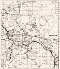 Northern California County Map Old County Map Lassen California 1929