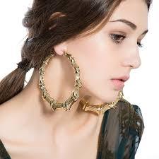 large hoop earrings best selling european style hyperbole large big bamboo hoop