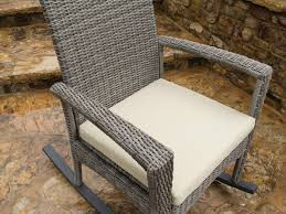 Blue Wicker Rocking Chair 3 Piece Bayview Rocking Chair Set Driftwood Patio Productions