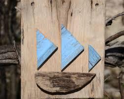 wooden boat wall boat wall etsy