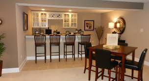 bar attractive contemporary basement kitchen ideas with wooden