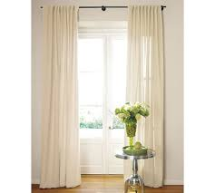 Curtains With Rings At Top Pottery Barn Cameron Cotton Pole Pocket Drape Available In