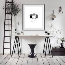 Wall Art Home Decor Happy Place Camera Photography Photographer Shooting Word Quote