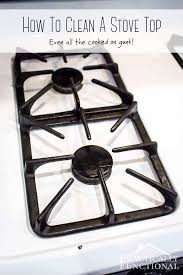 how to remove grease from the top of kitchen cabinets how to really clean a stove top even all the baked on gunk