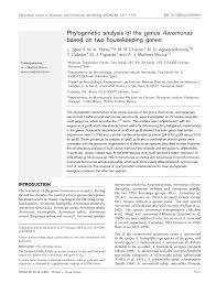 microbiology society journals phylogenetic analysis of the genus