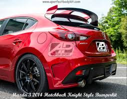 kereta mitsubishi airtrek mazda 3 2014 hatchback knight style rear bumper u0026 rear spoiler