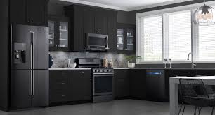black brown kitchen cabinets appliance black kitchen cabinets with stainless steel appliances