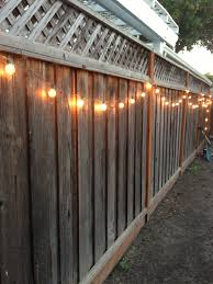 Hanging String Lights by Diy Backyard Lighting Hang Lights On Your Fence Diy