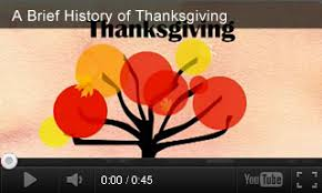 history of thanksgiving activities teachervision