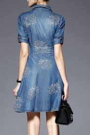 denim pinafore dress for women online designers shopping at dezzal