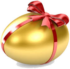 gold easter egg gold easter egg with ribbon transparent png stickpng