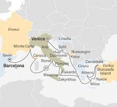 Norfolk Va Zip Code Map by Ultimate Mediterranean Treasures Ocean Cruise Europe U0026 The