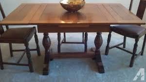1930 Dining Room Furniture 1930 S Draw Leaf Dining Table W 4 Chairs Price Reduced For Sale