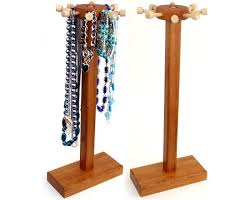 necklace holder stand images 32 wooden necklace stand jewelry holder necklace holder rack jpg