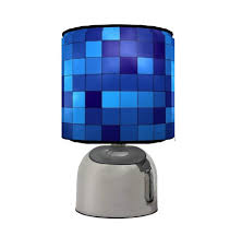 pixels touch table bedside lamp kids room matches minecraft game