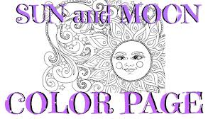 mandala sun and moon color page for kids youtube