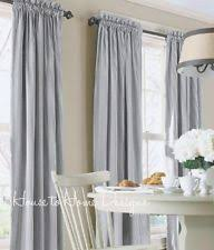 Blue And White Striped Drapes Cottage Striped Curtains Drapes U0026 Valances Ebay
