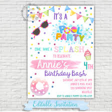 pool party invitation u2013 swimming pool birthday party u2013 pool party