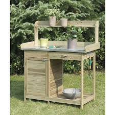 home jumbo country decor natural fir wood potting bench with