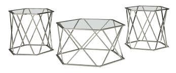 Outdoor Coffee Table Set Orren Ellis Howard 3 Piece Coffee Table Set U0026 Reviews Wayfair