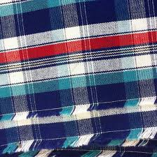 cotton fabric plaid fabric red plaid fabric blue plaid