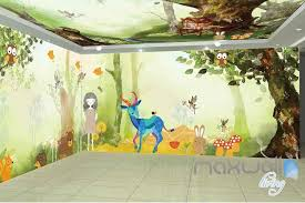 wallpaper for entire wall tree house animals entire room wallpaper wall murals art print