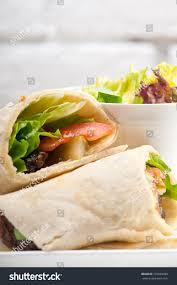 arab wrap kafta shawarma chicken pita wrap roll stock photo 170639030
