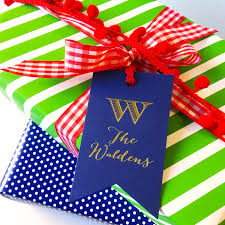 custom christmas wrapping paper custom gift tag wine label personalized gift tag