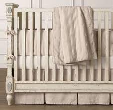 Organic Crib Bedding by Vintage Ticking Stripe U0026 European Vintage Washed Percale Nursery