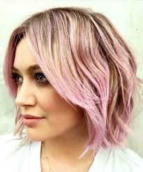short piecey hairstyles piecey bob with pink balayage 26 cute short haircuts that aren t