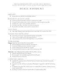 resume for college application objectives high resume for college sle