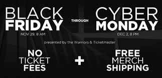 black friday cyber monday warriors to offer no fees black friday through cyber monday the