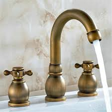 Antique Brass Bathroom Faucet by Gaof Antique Brass Bathroom Basin Faucet Widespread Modern Two