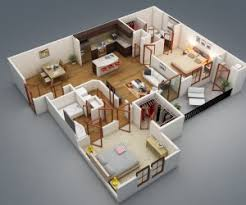 home plan design apartment designs shown with rendered 3d floor plans