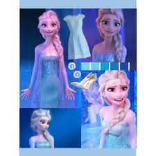 elsa blue color scheme battle disney princesses polyvore