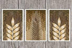 wheat paper art print quilled wheat sheaf hand drawn wheat