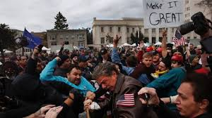 Illegal To Burn American Flag Violent Protesters Beat Pro Trump Demonstrators At Calif Rally