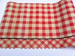 Kitchen Cabinet Paper Liner Vintage 1950 Red And White Checked Gingham Shelf Liner Paper With