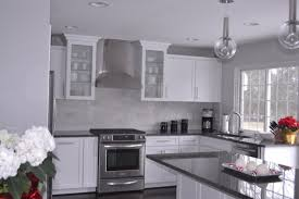 bathroom trendy white kitchen cabinets with gray granite